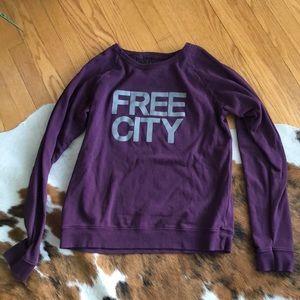 FreeCity Life Nature Love Purple Raglan Shirt Med